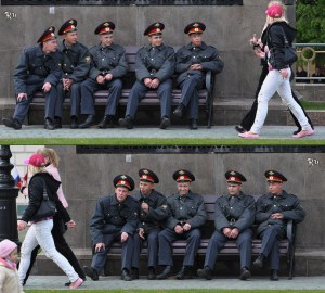 russian police at work